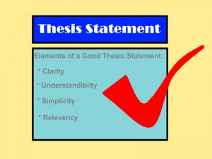 How to Write a Good Thesis Statement Synonym